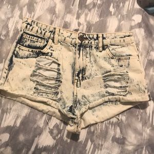 Acid Wash Forever 21 Shorts